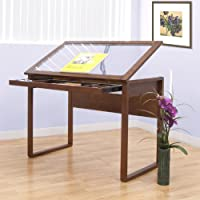 Ponderosa Glass Topped Table / Sonoma Brown