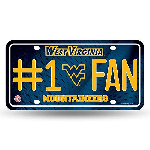 (NCAA West Virginia Mountaineers #1 Fan Metal License Plate Tag)