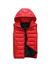 Womens Zip-Up Puffy Collegiate Active Down Vest With Hood
