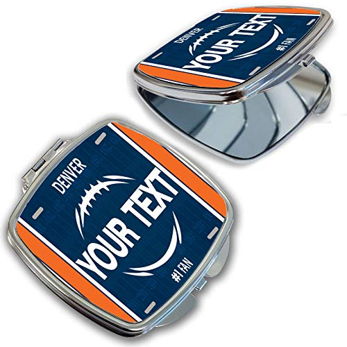BRGiftShop Customize Your Own Football Team Denver Compact Pocket Cosmetic ()
