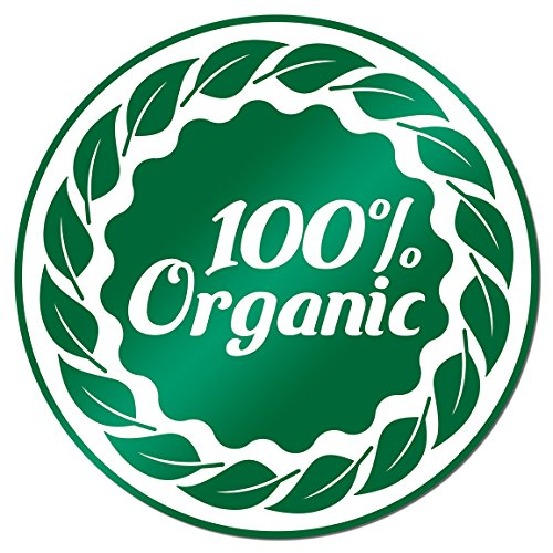 100% Organic 2 inch Round Labels Stickers Food Farm Farmers Market Fruit Stand 1500 ()