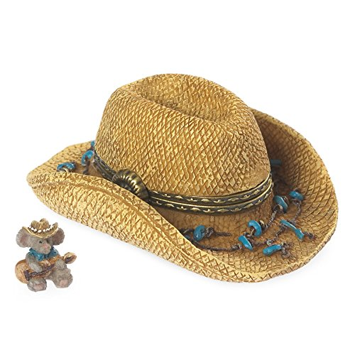 Boyds Bears Resin PAISLEY'S HAT WITH STRINGS MCNIBBLE Polyresin Treasure Box 4038018 ()