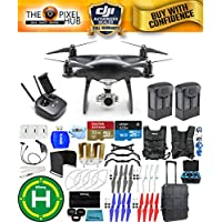 DJI Phantom 4 Pro Black Obsidian Edition Drone PRO BUNDLE With Rolling Case, Vest Strap, Extra Props, Filter Kit Plus Much More (2 Batteries)
