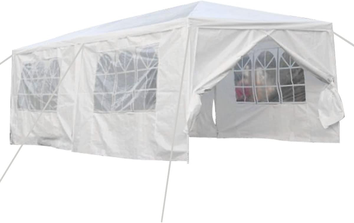 B019MO7R9Q Qisan Canopy tent carport 10 X 20-feet Carport with sidewalls, white(calm environment only) 51aMgsU6rDL.SL1200_