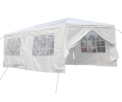 Qisan Canopy tent carport 10 X 20-feet Carport with sidewalls white(calm  sc 1 st  Amazon.com : 10x20 canopy tent with sides - memphite.com
