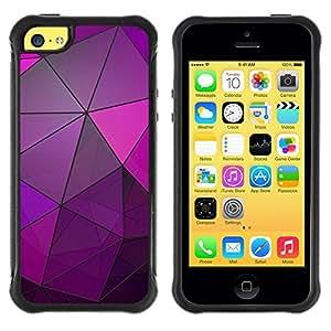 Suave TPU GEL Carcasa Funda Silicona Blando Estuche Caso de protección (para) Apple Iphone 5C / CECELL Phone case / / Glass Reflective Purple Polygon Lines /