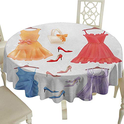 Heels and Dresses Leakproof Polyester Tablecloth Set ()