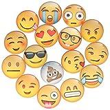 mini fridge kids - Zicome Emoji Refrigerator Magnets Set of 16