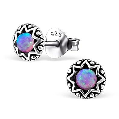 Boucles d/'oreilles FEMME Ptit DIAM/'S Cristal ROSE 2,5 mm ARGENT NEUF