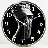 fwerq Wall Clock sport Mute studio creation of watches and clocks House Decoration practice Wall Clock Meditation Art Mute creative watches and clocks Select (Color # 3, Size: 30cm)