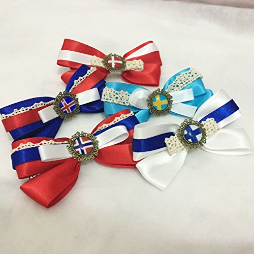 Dreamcosplay APH Axis Powers Hetalia Nordic Logo 5PCS Hairpin Barrette by Dreamcosplay (Image #2)