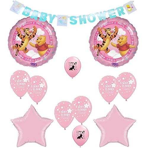 - Winnie the Pooh Its A Girl Baby Shower Balloons Decoration Kit