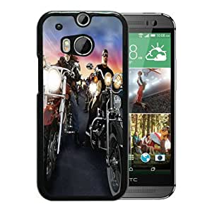 Individual Design Phone Case Harley Davidson Bikes Black Popular Sale HTC ONE M8 Phone Case