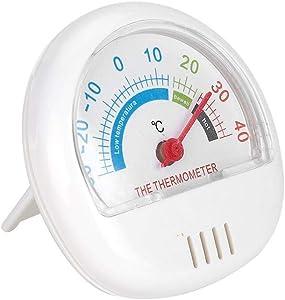 Zyyini Freezer Thermometer, Refrigerator Freezer Thermometer Large Dial Thermometer for Kitchen Use(Mechanical) (White)