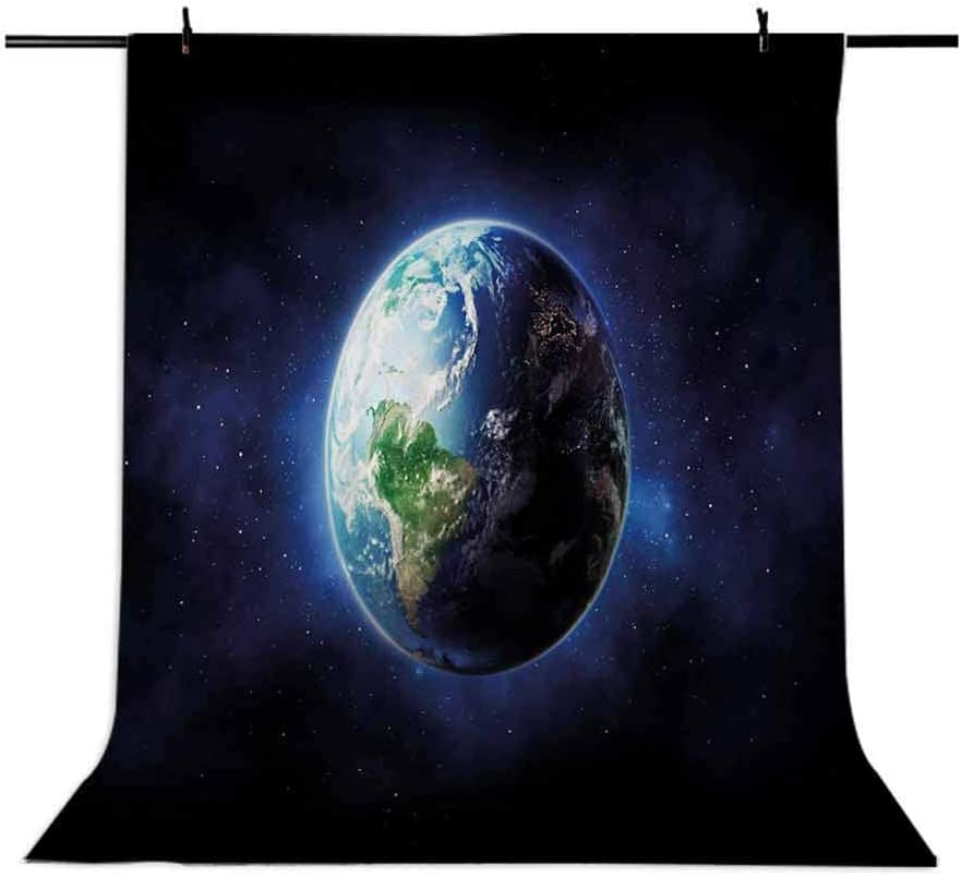 World 10x12 FT Photo Backdrops,Starry Outer Space View with Planet Earth Calm Silent Universe Galaxy Background for Photography Kids Adult Photo Booth Video Shoot Vinyl Studio Props