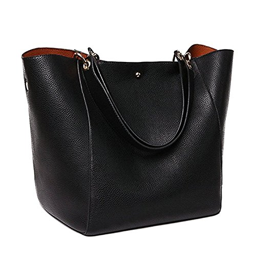 Obosoyo Women's Waterproof Handbags Ladies Synthetic Leather Tote Shoulder Bags Fashion Travelling Mommy Soft Hot Purse ()