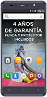 "Intex Aqua Shine - Smartphone libre Android (4G, 5"", Dual SIM, 8 MP, 16 GB), color Gris grafito"