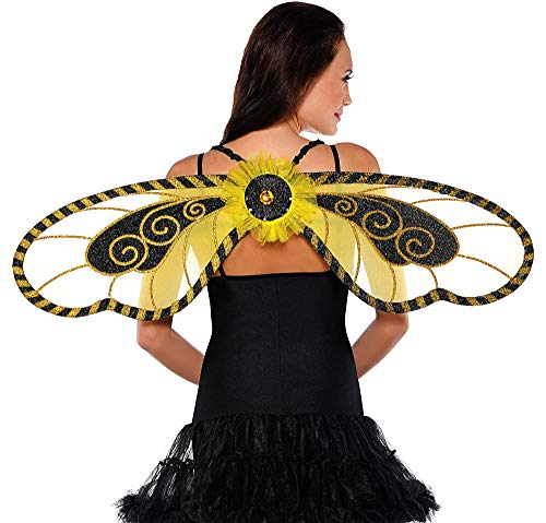 AMSCAN Bumblebee Wings Halloween Costume Accessories for Adults, One Size -