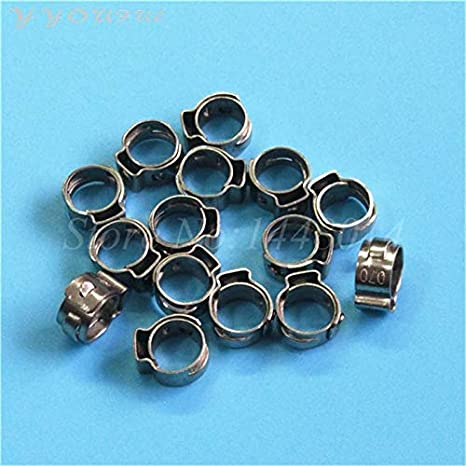 Color: 50pcs Printer Parts Inkjet Printer Ink Tube Clip Metal Infinity Challenger Phaeton Allwin Human Yoton Ink Pipe Clips clamp Switch 10pcs 100pc