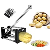 French Fry Cutter, Professional Potato Chipper with Extended Handle,...