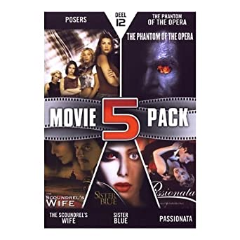 Movie 5 Pack Collection Part 12 Posers / The Phantom of the Opera / The Scoundrels Wife / Sister Blue / Passionata NON-USA FORMAT, PAL, Reg.2 Import - Netherlands by Maximilian Schell: