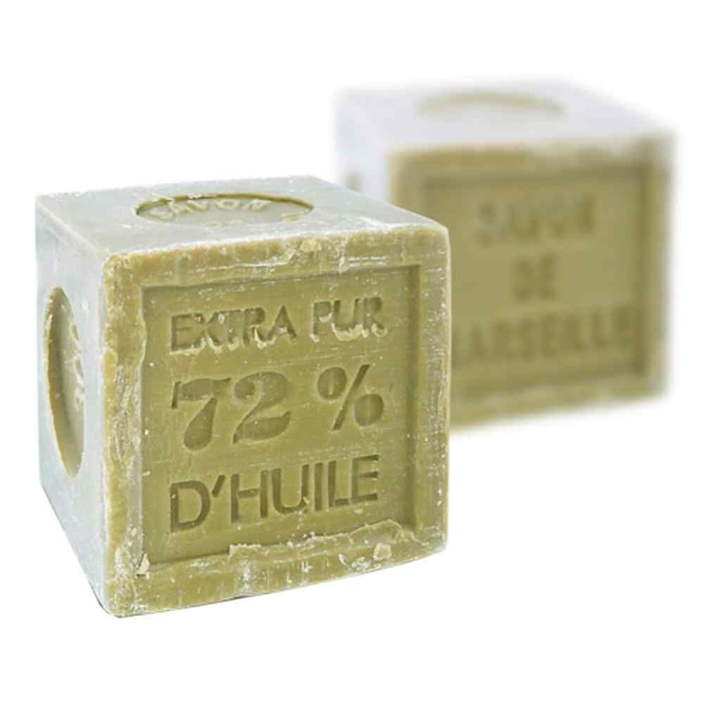 Natural Marseille Soap Verte Olive Oil Traditional French Recipe Cube 300g