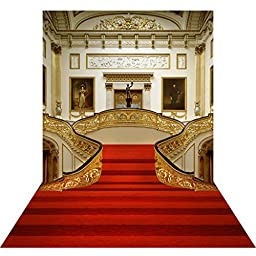 Ouyida European red carpet stairs 10X15FT(300X450CM) Pictorial cloth Customized photography Backdrop Background studio prop GQ02