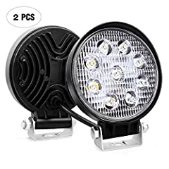 Specification:  LED Power:27W (9 x 3W High Intensity LED) Beam Pattern: Spot Beam, focused light in the middle of the lane, extreme further distance through the darkness. -More items' options for choice Input Voltage: 9-30V DC (fits 12V, 24V ...