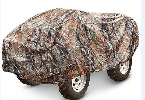Camouflage Waterproof ATV Cover Heavy Duty 190T Polyester with Adjuatable Elastic Band Protects from Snow Rain or Sun Fits up to 78-86 inches(Random Color) QCZ07 (XL: 82.7'' 47.3'' 45.3'' INCH) by QEES