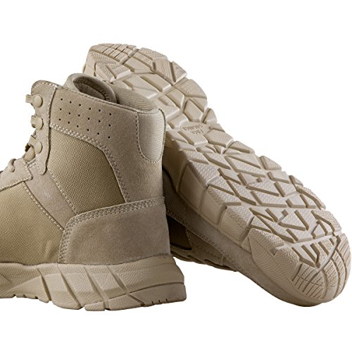 Boots Tactical Military Breathable inch Work Hiking for Boots Lightweight Tan Boots Men's 6