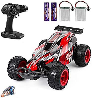 Jeypod Remote Control Car 2 4 Ghz High Speed Racing Rc Car With 4 Batteries Kids Toys Red Amazon Com Au Toys Games