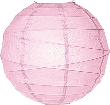 6-Inch Free-Style Ribbed White for Home Decor Parties and Weddings - Rice Paper Chinese//Japanese Hanging Decoration Luna Bazaar Paper Lantern