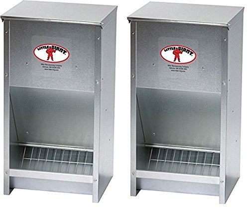 Miller Manufacturing Company 171267 Galvanized High Capacity Poultry Feeder by LITTLE GIANT