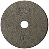 Cheap Power Systems Standard Weight Plate, Cast Iron, 1-Inch Hole, 10 Pounds, Gray (61630)