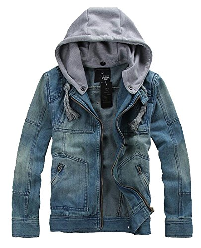 Coat Classy Denim Men's Hooded 1 UK Zipper today Jeans Casual Jacket Hoodies qT7vWw