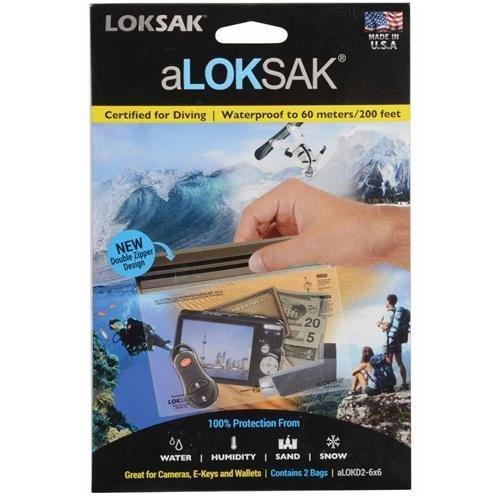 ALOKSAK Waterproof Pouch, 6X6 (2PK)