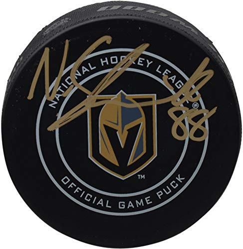 Nate Schmidt Vegas Golden Knights Autographed Official Game Puck - Fanatics Authentic Certified - Autographed NHL Pucks