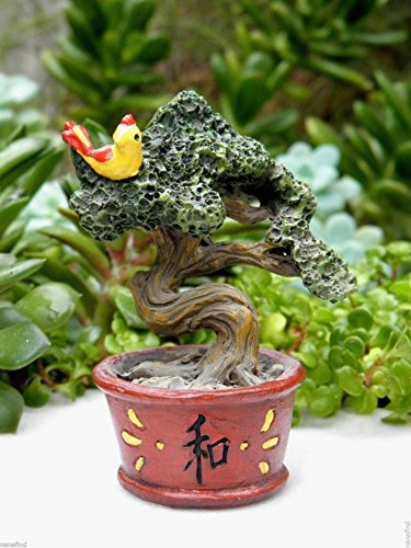 Miniature Dollhouse FAIRY GARDEN Accessories ZEN Bonsai Tree with Bird - My Nectar Card