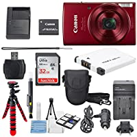Canon PowerShot ELPH 190 IS Digital Camera with 10x Optical Zoom and Built-In Wi-Fi with Deluxe Bundle