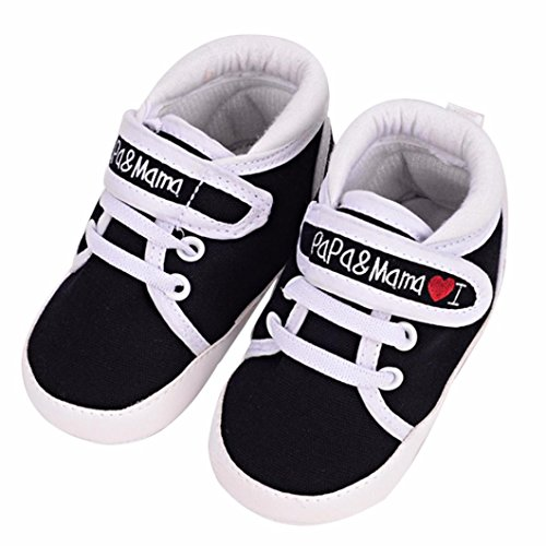 Koly Newborn Baby Infant Kid Boys Girls Soft Sole Canvas Sneaker Toddler Shoes
