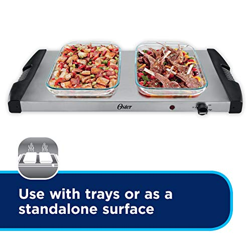 Oster Buffet Server, Triple Tray, 2-1/2 Quart, Stainless Steel (CKSTBSTW00-NP1) by Oster (Image #4)