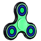 (Upgraded Version) Fidget Spinner, POAO Fidget Toys for ADD, ADHD, Anxiety, and Autism Adult Children (Glow Version-Blue)