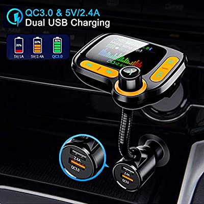 Bluetooth 5.0 FM Transmitter for Car 1.77