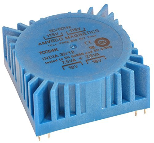 70054K Low Profile PC Mount Toroidal Transformer 2 @ 18 volts 15 VA rated