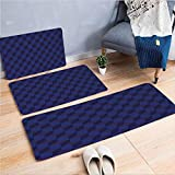 Shadow Box Coffee Table 3 Piece Non-Slip Doormat 3d print for Door mat living room kitchen absorbent kitchen mat,Futuristic Inspired Shadow Boxes Cubes Image,15.7