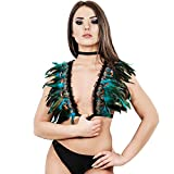 HJZLSSYS Feather Harness Bra Sexy Elastic Gothic Cage Plus Size