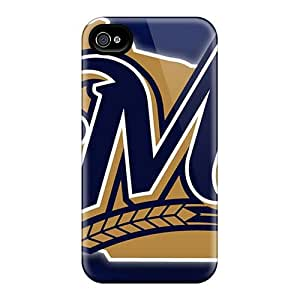New Premium Flip Case Cover Milwaukee Brewers Skin Case For Iphone 4/4s