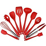 SOPHISTICATE 10Pcs Silicone Cooking Tool Sets Non-Stick Eggs Beater Spatula Spoon Shovel Ladle Spaghetti Server Oil Brush Kitchen Utensils: PJ1701R