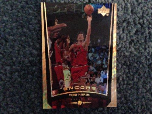 1998-1999 Upper Deck Basketball Encore Toni Kukoc Card # 11 GOLD FOIL Limited Edition 089/125! Philadelphia 76ers, Chicago Bulls, Milwaukee Bucks, Atlanta Hawks