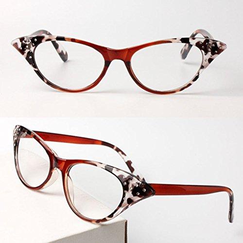 MSmask Reader Reading Glasses Eyewear Lady Design Leopard Frame Resin - Bans Polarised Ray
